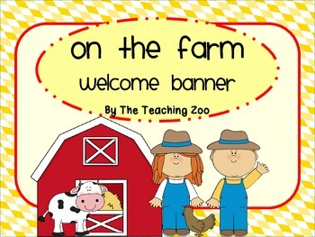 Farm Themed Welcome Banner