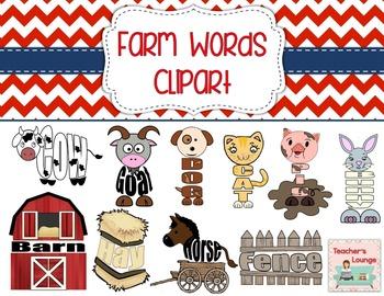 Farm Themed Word Clipart