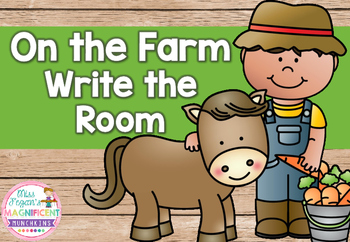 Farm Themed Write the Room