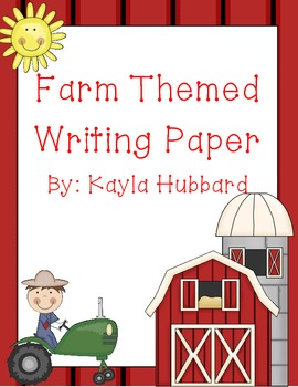 Farm Themed Writing Paper