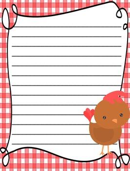 Farm Themed Writing Paper - Literacy - Writing Centers - Farm Studies