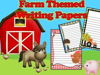 Farm Themed Writing Paper - Literacy - Writing Centers - F