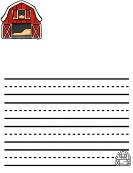 Farm Themed Writing Paper perfect for farm unit!