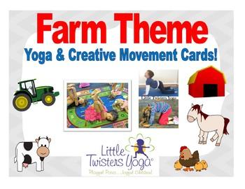 Farm-Themed Kids Yoga and Creative Movement Cards--Real Photos!