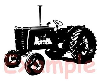 Farm Tractor SVG Cutting Files Clip Art cars Father's Day dad boy old 907S