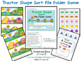 Farm Tractor Shape Sort File Folder Game