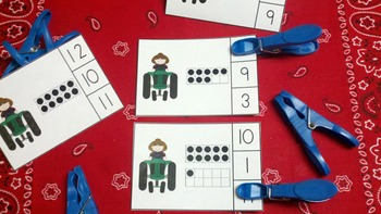 Farm Trucks and Tractors Count and Clip Cards (Quantities to 20)