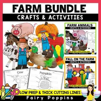 Farm Unit - Crafts & Worksheet Activities (BUNDLE) *NEW*