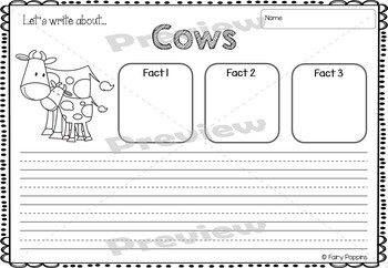 Farm BUNDLE - Crafts & Worksheet Activities