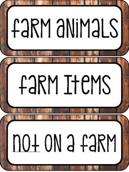 Farm Unit (Literacy Centers ONLY)
