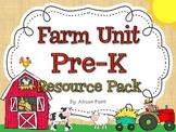 Farm Unit Pre-K Resource Pack