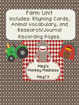 Farm Unit: Rhyming, Matching, and Research/Journals