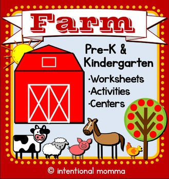 Farm Mini-Unit for Pre-K and Kindergarten