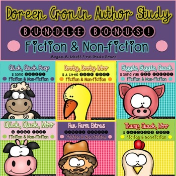 Doreen Cronin Farm Stories and Bonus Fun Farm Goodies Bundle