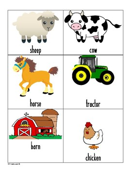 Farm Vocab Cards