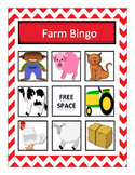 Farm Vocabulary Bingo