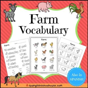 Farm Vocabulary Bundle for ELLs