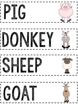 Farm Vocabulary Cards: Literacy Resources