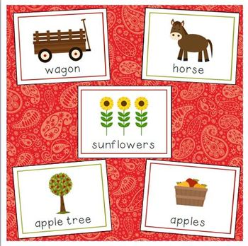 Farm Vocabulary Cards for Preschool and Kindergarten