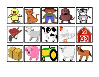 Farm Vocabulary Cariboo Cards