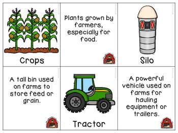 Farm Vocabulary & Comprehension Activities