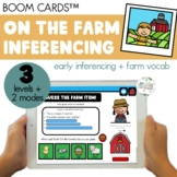 Farm Vocabulary Inferencing Boom Cards™