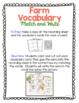 Farm Vocabulary Match and Write