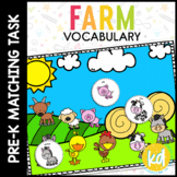 Farm Vocabulary Matching Folder Game for Students with Autism & Special Needs