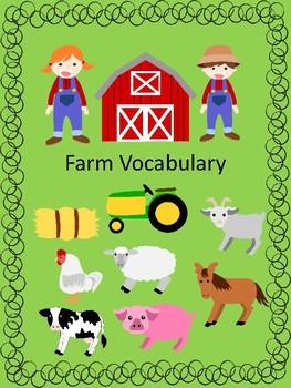 Farm Vocabulary Resource!