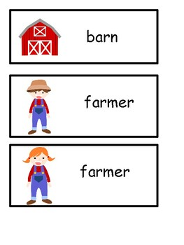 Farm Vocabulary Resource!
