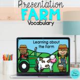 Farm Vocabulary  Slides | Powerpoint Presentation | ESL