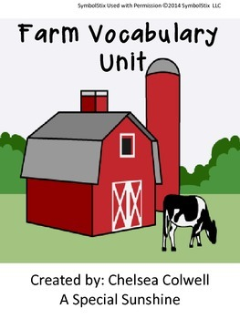 Farm Vocabulary Unit for Special Education