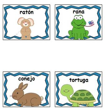 Farm Vocabulary Words - SPANISH