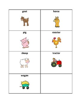 Farm Vocabulary - Writing Workshop Resource