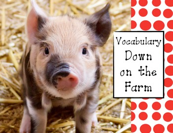 Farm Vocabulary for Labeling the Farm Montessori Activity