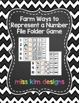 Farm Ways to Represent A Number File Folder Game