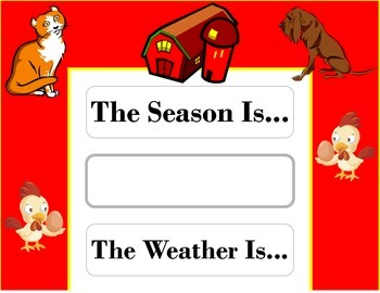Farm Weather Chart! Farm Bulletin Board! Farm Theme! Farm Decor!