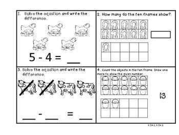 Farm Week Math Journal