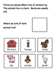 Farm Who, Where, and What Adapted Book for Special Education