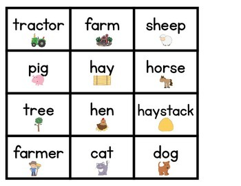 Farm - Word Cards and Activities