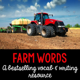 Farm Word Cards and Word Walls in English and Spanish