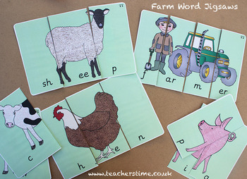 Farm Word Jigsaws