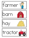 Farm Word Wall Vocabulary Cards