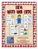 Farm Word Wall Pocket Chart Cards