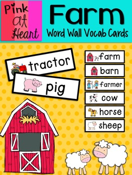 Farm: Word Wall Vocabulary Cards