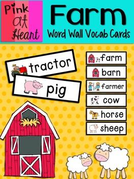 Farm: Word Wall Vocabulary Cards