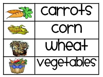 Farm Word Wall Words