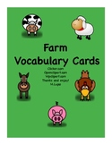 Farm Word Wall and Vocabulary Cards