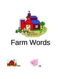 Farm Words Folder