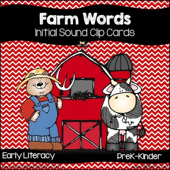 Farm Words Initial Sound Match and Clip Cards